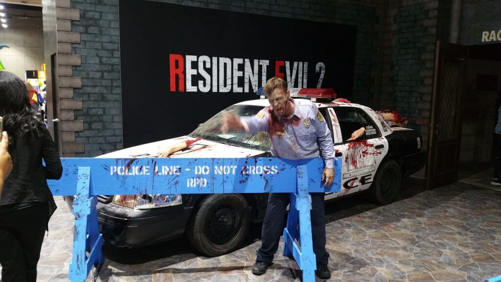 Resident Evil 2 Raccoon City Cop Car and Zombie