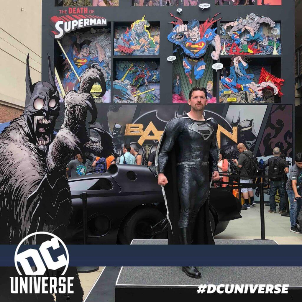 My Black Suit Superman at the DC Universe booth!