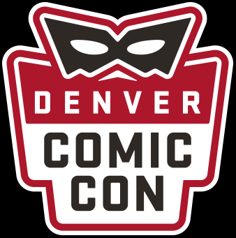 Denver Comic Con Red Logo Square Black